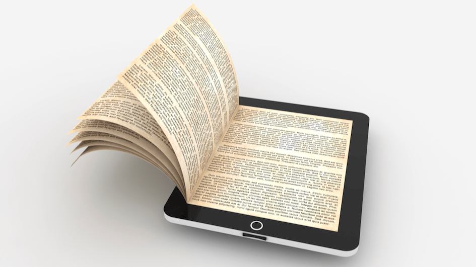 Ipad with pages.
