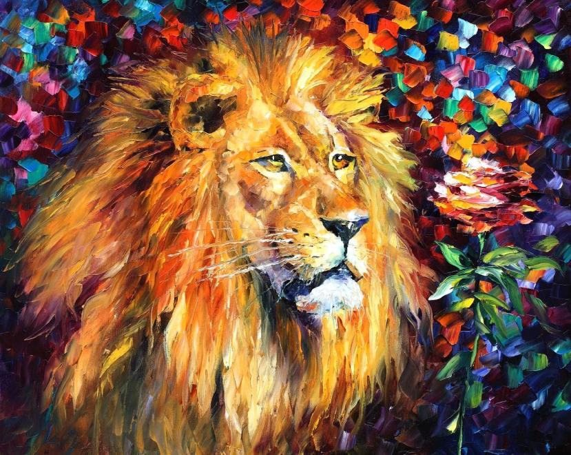 Lion by Leonid Afremov