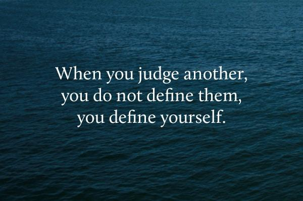 before you judge others