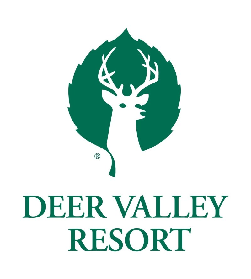 The logo for the Deer Valley Resort located near the Peace House in Park City, Utah