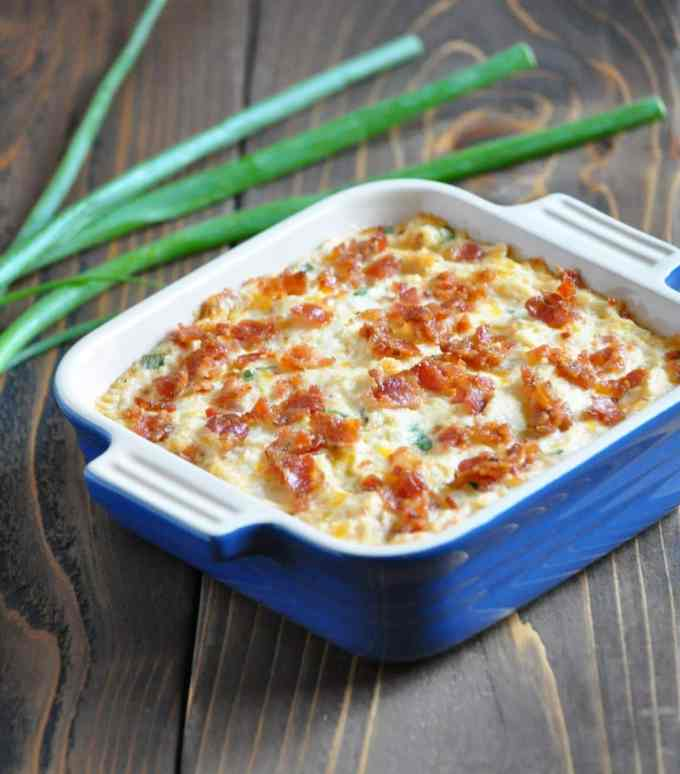 Low Carb Loaded Baked Cauliflower Casserole