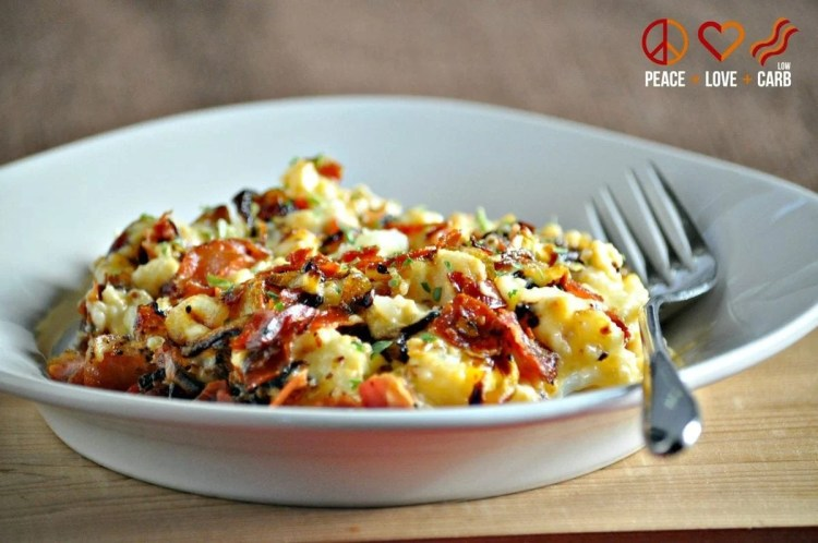 Caramelized Onion and Prosciutto Mac and Cheese -Low Carb, Keto, Gluten Free