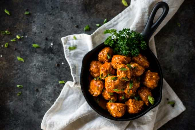Keto Buffalo Chicken Meatballs | Peace Love and Low Carb