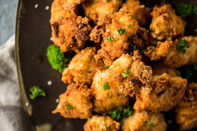 Almond Parmesan Crusted Keto Chicken Nuggets   Peace Love and Low Carb