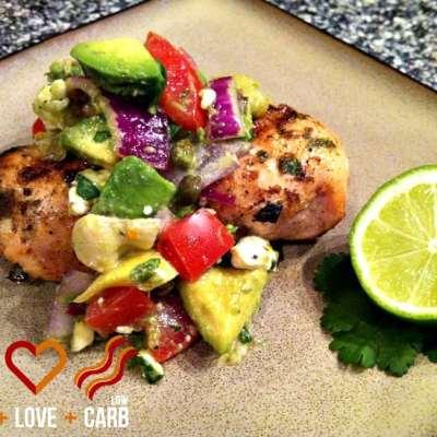 Chili-Lime Rubbed Chicken with Avocado-Feta Salsa
