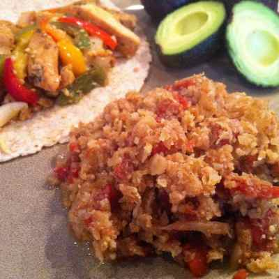 """Mexican (Spanish) """"Rice"""" – Low Carb, Paleo, Gluten Free"""