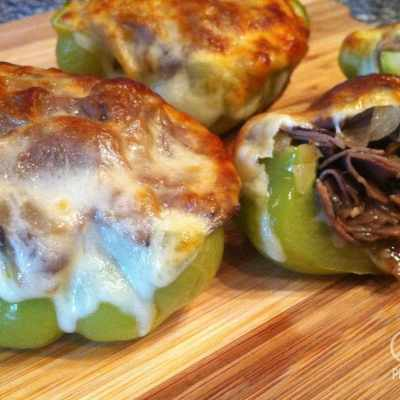 Philly Cheesesteak Stuffed Peppers – Low Carb, Gluten Free
