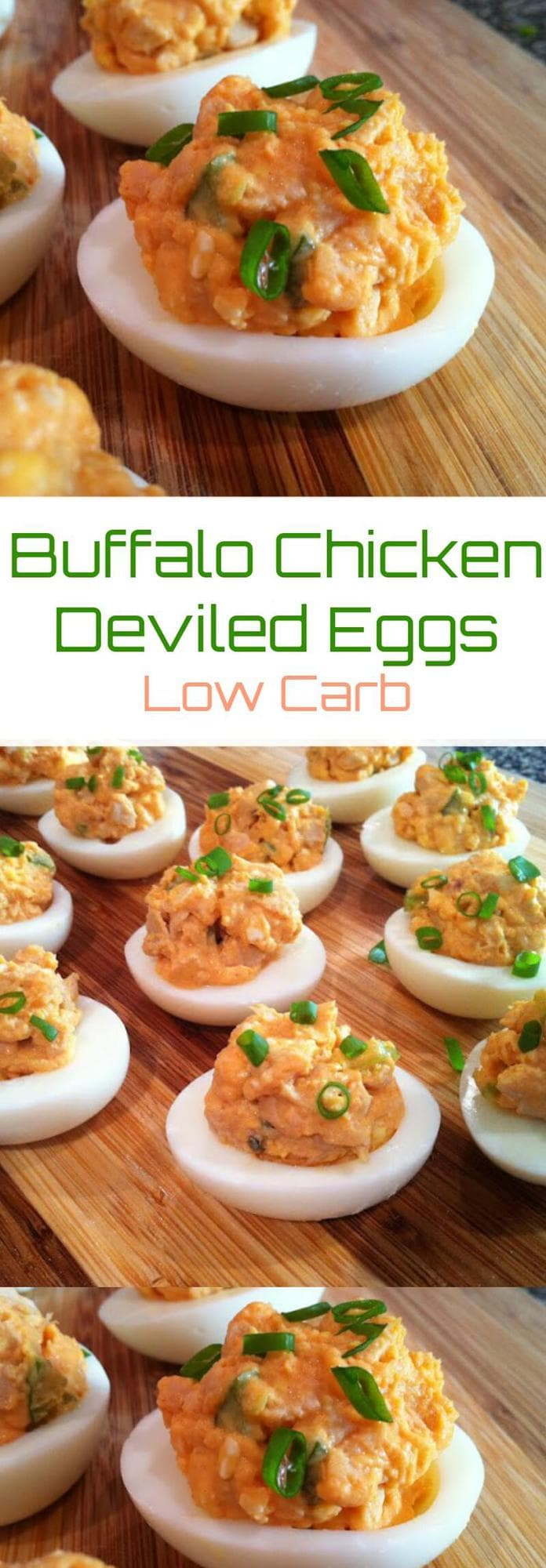 Keto Buffalo Chicken Deviled Eggs | Peace Love and Low Carb
