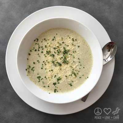 Low Carb Cauliflower and Broccoli Cheese Soup