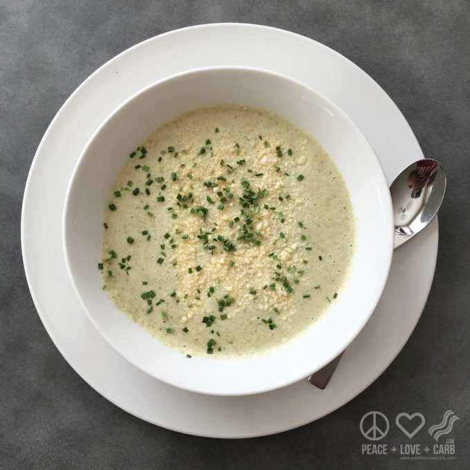 Low Carb Cauliflower and Broccoli Cheese Soup | Peace Love and Low Carb