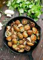 Balsamic Shallot Mushrooms - Peace Love and Low Carb