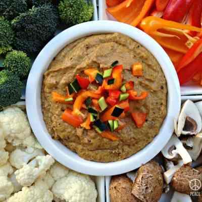 Caramelized Onion Hummus – Low Carb, Paleo, Gluten Free, Dairy Free