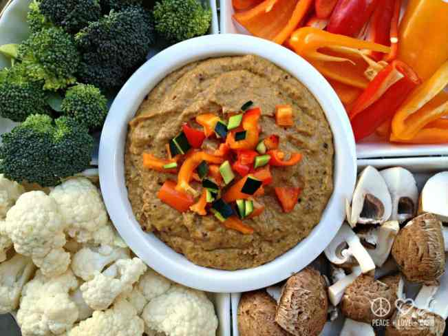 Caramelized Onion Hummus Ingredients - Low Carb, Paleo | Peace Love and Low Carb