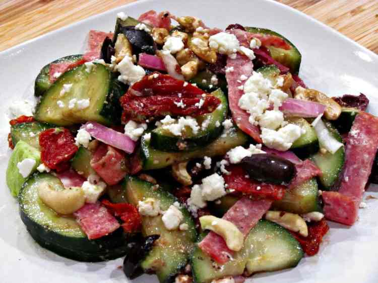 Cucumber Greek Salad | Peace Love and Low Carb