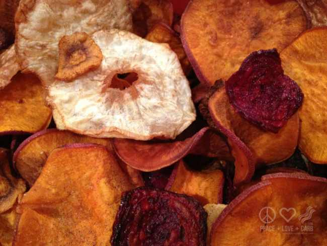 Salt and Pepper Vegetable Chips - Paleo, Low Carb | Peace Love and Low Carb