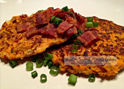 Bacon Sweet Potato Cakes - Paleo, Low Carb