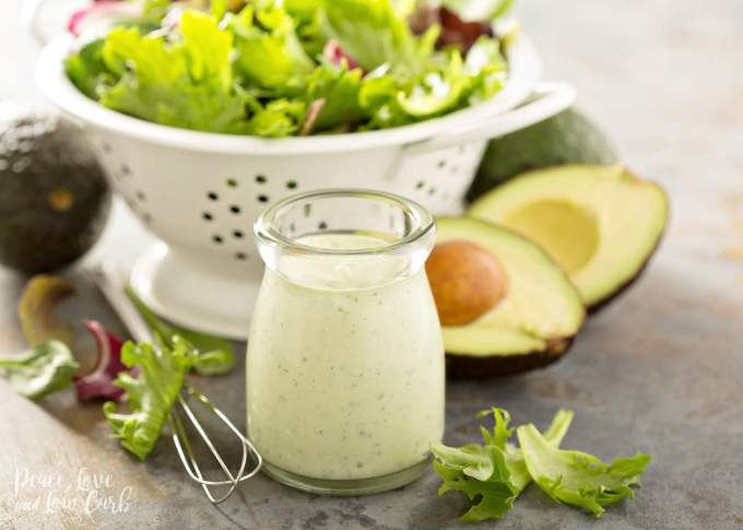 Keto Creamy Avocado Ranch Dressing | Peace Love and Low Carb
