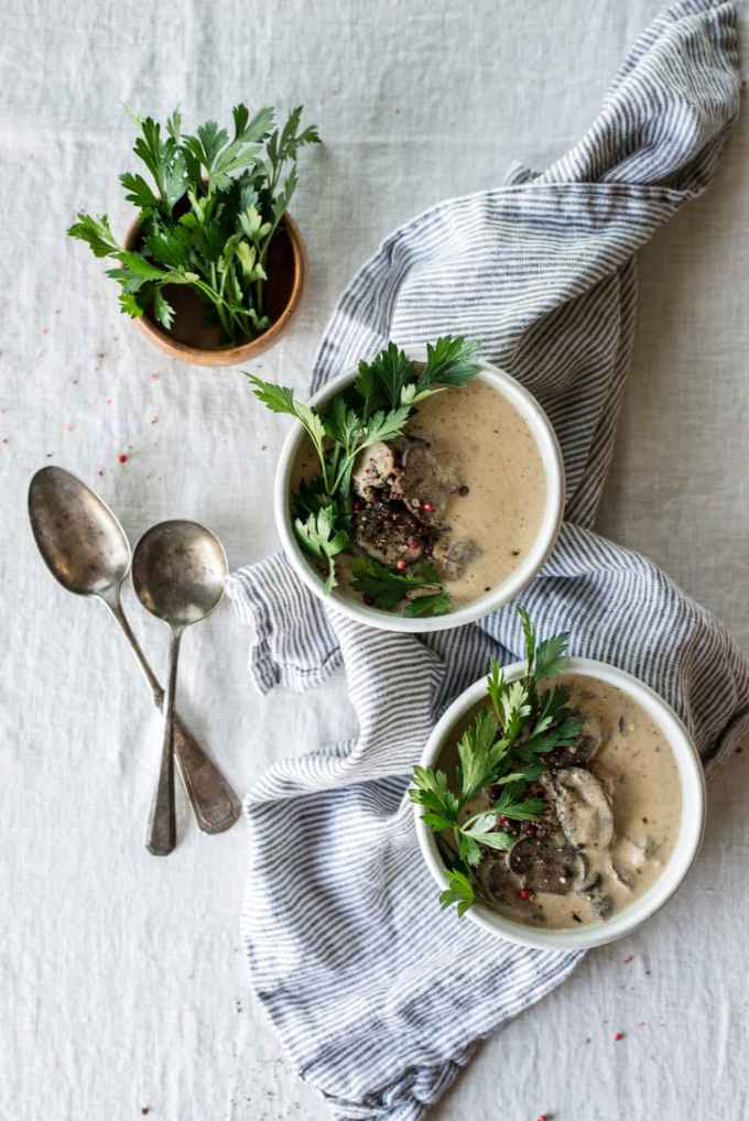 Keto Beef Stroganoff Soup   Peace Love and Low Carb