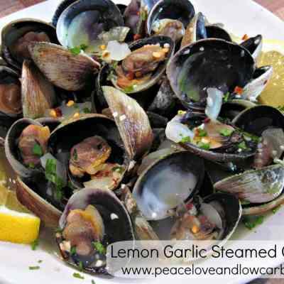 Lemon Garlic Steamed Clams