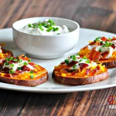 Loaded Sweet Potato Bites – Low Carb, Gluten Free