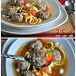 Italian Meatball Zoodle Soup