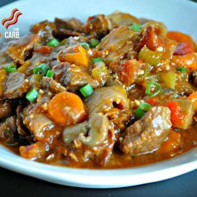 Hearty Slow Cooker Beef Stew – Low Carb, Paleo