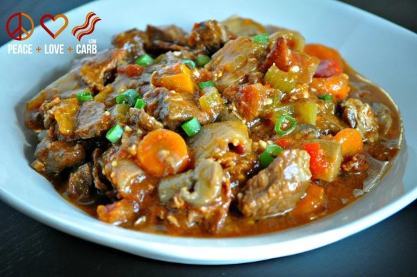 Hearty Slow Cooker Beef Stew - Low Carb, Paleo