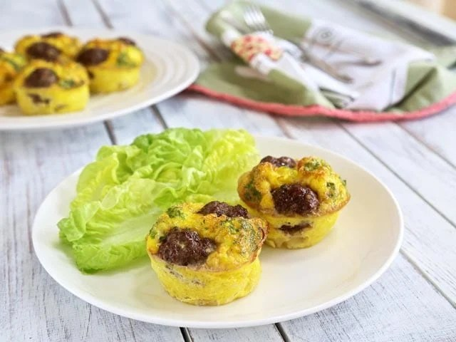 Reuben Egg Muffins - Low Carb, Gluten Free