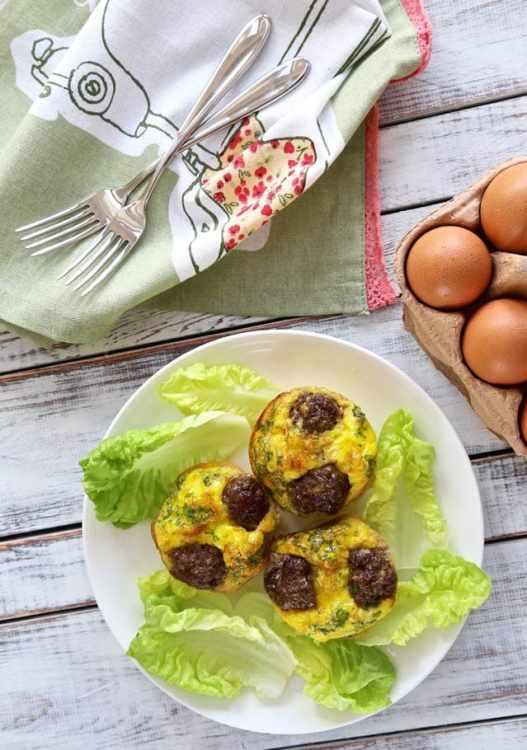 Reuben Egg Muffins - Low Carb, Gluten Free