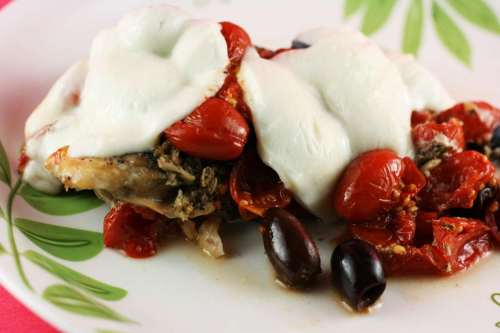 Slow Cooker Chicken Puttanesca, Low Carb