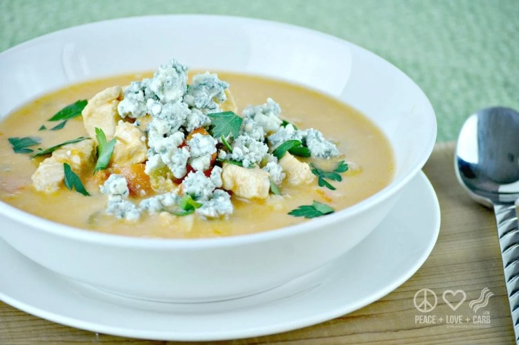 Buffalo Chicken Soup - Low Carb, Gluten Free - Peace Love and Low Carb