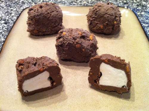 Chocolate Peanut Butter Ice Cream Bites - Low Carb Fat Bomb Recipe Round Up   Peace Love and Low Carb