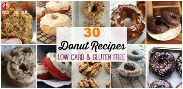 30 Donut Recipes - Low Carb and Gluten Free | Peace Love and Low Carb