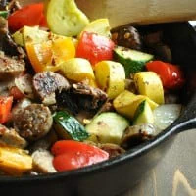 Chicken Sausage and Vegetable Skillet – Low Carb, Paleo, Gluten Free