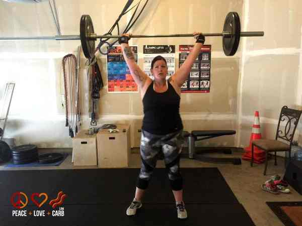 Day 10 Workout - Overhead Squats - My 100 Pound Journey | Peace Love and Low Carb
