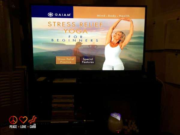 Yoga for Stress Relief | Peace Love and Low Carb