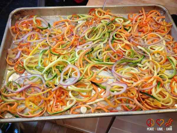 Rainbow Vegetable Noodles - Low Carb, Paleo | Peace Love and Low Carb