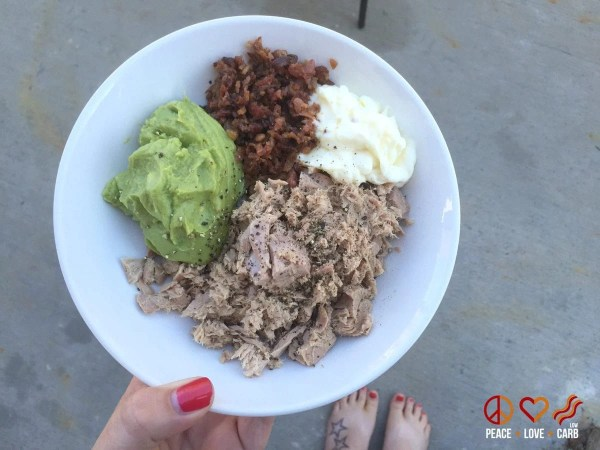 Keto Tuna Bowl Lunch - My 100 Pound Journey | Peace Love and Low Carb