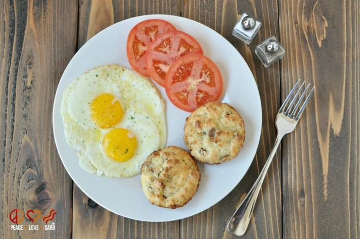 White Cheddar Sausage Breakfast Biscuits - Low Carb, Gluten Free   Peace Love and Low Carb