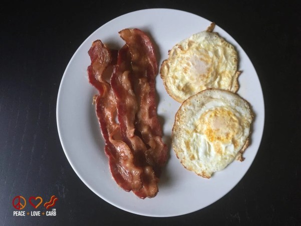 Good Ole Fashioned Bacon and Eggs | Peace Love and Low Carb