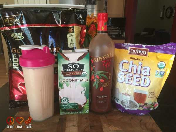 Low Carb Post Workout Protein Shake - Peace Love and Low Carb