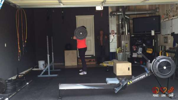 Working Front Squats During my Workout - Peace Love and Low Carb