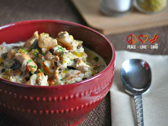 Chicken Bacon Crock Pot Chowder   Peace Love and Low Carb