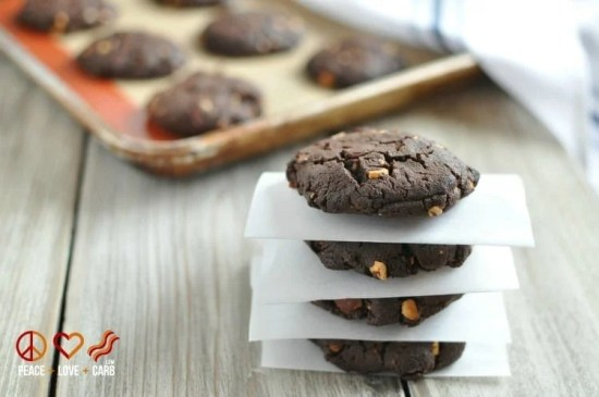 Chocolate Peanut Butter Bacon Cookies, - Low Carb, Gluten Free | Peace Love and Low Carb