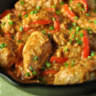 Peanut Chicken Skillet – Low Carb, Gluten Free