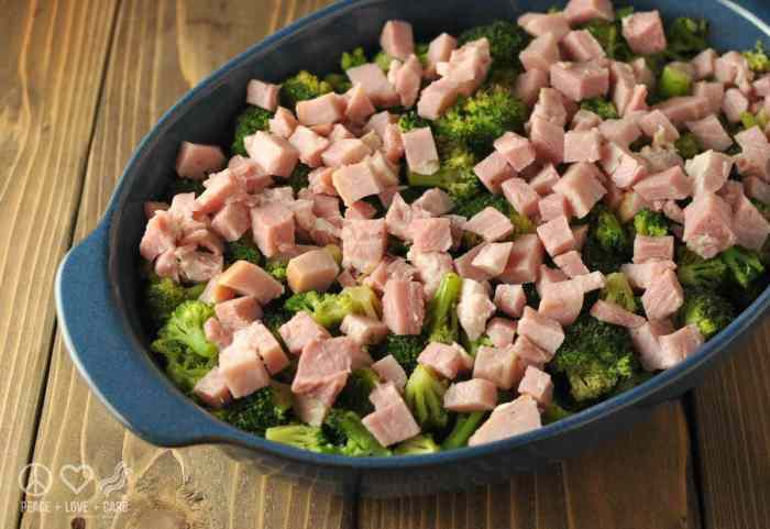 Three Cheese Broccoli Ham Casserole - Low Carb, Gluten Free   Peace Love and Low Carb