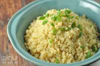 Buttery Cauliflower Rice Pilaf - Low Carb, Gluten Free   Peace Love and Low Carb