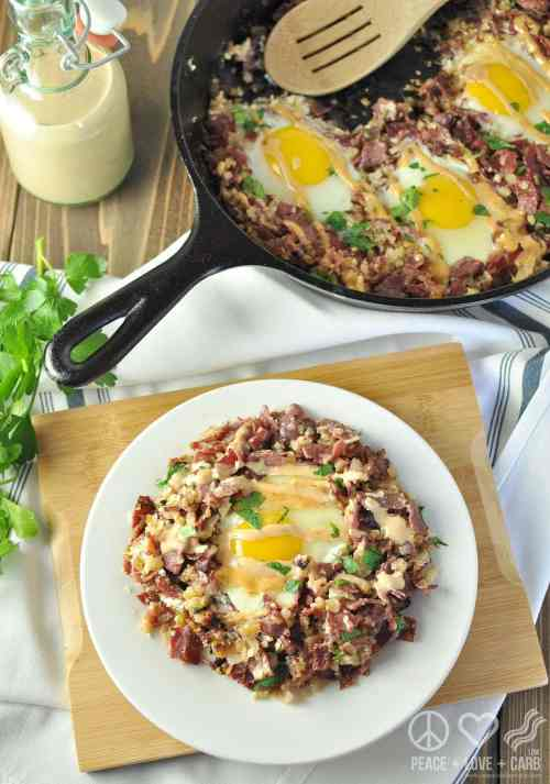 Corned Beef Hash Breakfast Skillet - Paleo, Low Carb, Gluten Free   Peace Love and Low Carb