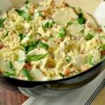 Low Carb Alfredo with Spaghetti Squash, Pancetta, and Peas. Low carb, satisfying, luxuriously creamy, and completely delicious.