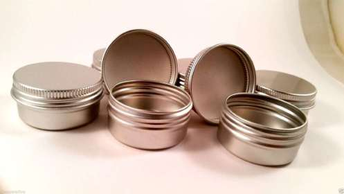 Aluminum Balm Tins - Essential Oil Relaxation Salve